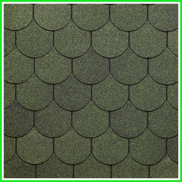 Гибкая битумная черепица Деке Кольчуга - Зеленый цвет