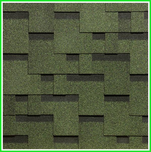 Гибкая битумная черепица Деке Тетрис - Зеленый цвет